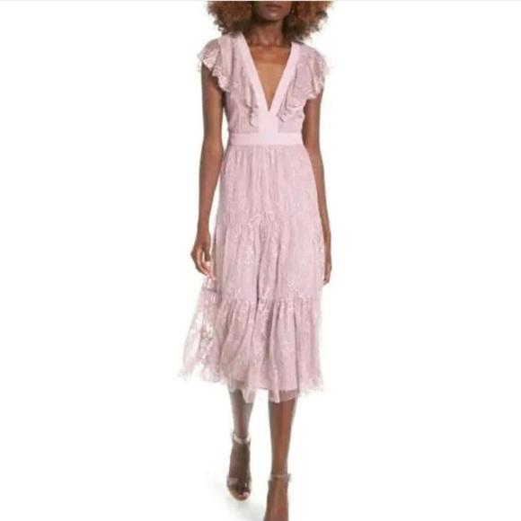 d3e009b5d37 Nordstrom Rack WAYF Hadley lace midi dress LARGE
